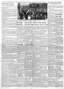April 13, 1945 Nashville Tennessean Extra page 2