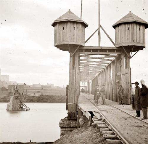Railroad Bridge Over Cumberland During Civil War